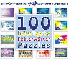 Jeden Tag kannst du 12 andere Wortpuzzle spielen. Klicke auf ein Fehlerwort. Die Anzahl der Teile kannst du von 12 bis 108 einstellen.
