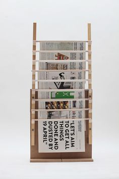 A newspaper stand as part of a final year BA (Hons) Design Communication Project in Lasalle.