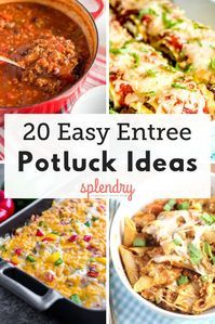 20 Easy Entrees Perfect for a Potluck Whether you've got a church potluck to attend, or a holiday party crowd to feed, we've got 20 of the easiest and most delicious entree recipes to try! From slow cooker pastas to yummy casseroles, there's something for Crockpot Potluck, Best Potluck Dishes, Church Potluck Recipes, Main Dish For Potluck, Easy Potluck Recipes, Potluck Dinner, Entree Recipes, Potluck Ideas, Food For Potluck