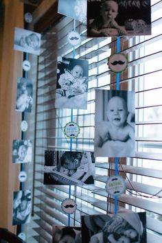 Premier anniversaire de mon petit homme, 1an de vie en photos. / First Birthday of my boy, first year life in pictures. Thème moustache, mustache theme