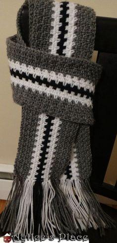 Men's Scarf Crochet Scarf for Men by AylleesPlace on Etsy, $28.00