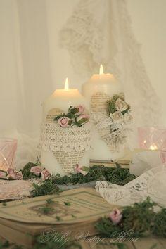nelly vintage home: Романтични свещи