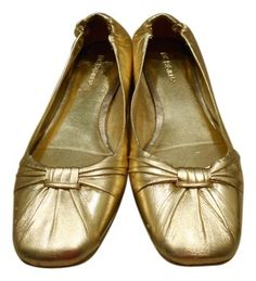 BCBG Max Azria GOLD Leather Ballet 9 B Medium Flats $28 with FREE SHIPPING