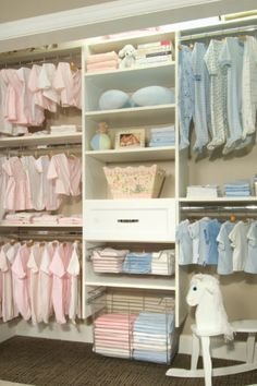 Beautiful Baby Closet Organizer Ideas Well Organized Split Up Design