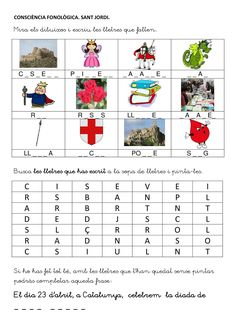 Title: CONSCIÈNCIA FONOLÒGICA AMB SANT JORDI, Author: Length: 1 pages, Published: Saint George And The Dragon, Activities For Kids, Crafts For Kids, St Georges Day, Classroom Crafts, Education, Mall, Child, Spring