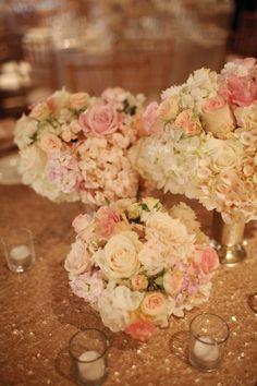 Chic romantic wedding from Adrienne Gunde Photography - wedding centerpiece flower idea