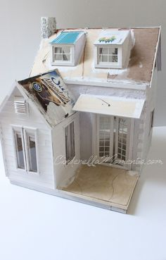 Cinderella Moments: Dollhouse Custom Construction Part 4 - Featuring Lilac Cottage Modern Dollhouse, Diy Dollhouse, Dollhouse Furniture, Dollhouse Miniatures, Putz Houses, Fairy Houses, Miniature Houses, Miniature Dolls, Cinderella Moments