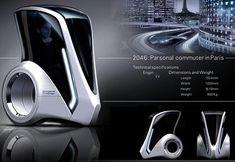 2046 Parsonal Commuter, Daisuke Iguchi, Paris, French Cars, personal commuter, electric vehicle, future vehicle, futuristic vehicle, luxury vehicle, future urban transportation, ev, futuristic transportation, future city car