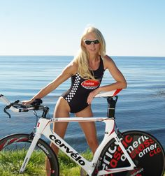 """Triathlon Angel wearing our famous """"RacerX"""" black swimsuit. Available at our """"Speed Shop"""". Triathlon Clothing, Ironman Triathlon, Girls Album, Cycling Girls, Bicycle Girl, Fit Women, Swimming, Sexy, Bicycles"""