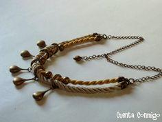 Cuenta Conmigo Bijou - Collar Fringe en doble cordón e seda y abalorios
