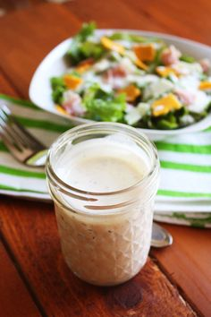 Homemade Ranch Dressing Recipe. Easy, fresh, and you can pronounce all the ingredients!