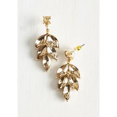 Editor ($18) ❤ liked on Polyvore featuring jewelry, earrings, gold leaf jewelry, leaves earrings, sparkly earrings, party jewelry and gold jewelry