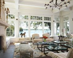 House of Turquoise: Billy Beson Company living room Coastal Living Rooms, Home Living Room, Living Room Designs, Living Spaces, Cozy Living, Kitchen Living, Living Area, House Of Turquoise, Turquoise Accents