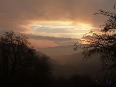 The view towards Mytholmroyd in West Yorkshire. An interesting and atmospheric December sunrise.