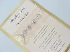 These Jeweled Wedding Invitations Make a Statement Emmaline Bride