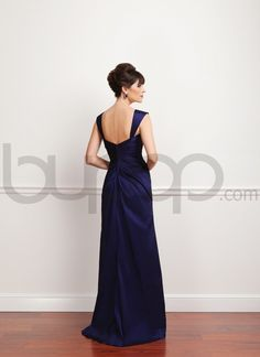 mother of the bride gowns with cap sleeves   ... Taffeta A-line Cap Sleeve Mother of The Bride Dress - Bupop.com