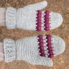 Free Crochet Pattern: Tree Hugger Mittens | Gleeful Things