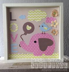 cuadro para bebe Home Crafts, Diy And Crafts, Paper Crafts, Baby Frame, Newborn Baby Gifts, Art Wall Kids, Box Frames, Baby Decor, Baby Cards