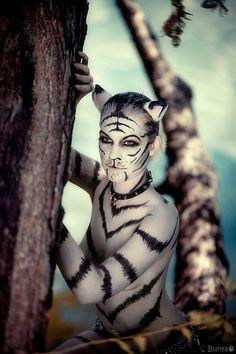 White tigress by ~MiriamBast
