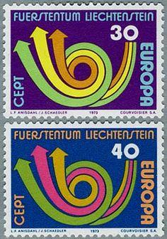 Stamp Liechtenstein 1973