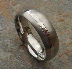 Two Tone Titanium Wedding Ring | LOVE2HAVE in the UK! Matching Wedding Rings, Wedding Matches, Titanium Wedding Rings, Two Tones, Strip Lighting, About Uk, Jewelry Rings, Rings For Men, Jewelry Making