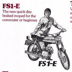 1974 Yamaha FS1 E Candy Orange 394 Sales Flyer