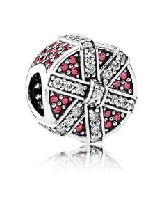 Pandora Christmas Red Shimmering Gift Charm