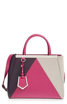 Fendi 'Petit 2Jours Colorblock' Leather Shopper available at #Nordstrom