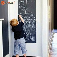 45x200cm Blackboard Wall Stickers Removable Vinyl for Kids Rooms