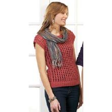 Pullover Vest Pattern- Available from WillowYarns.com - Destined to become a wardrobe classic, this vest is designed for layering and pairs up perfectly with slacks, jeans, shirts, and leggings. Knit this Pullover Vest in sizes S (M, L, 1X, 2X). Intermediate knit instructions.