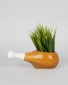 Turkey Drumstick Planter