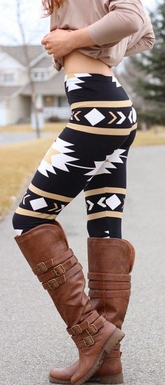 Love these boots and the leggings! Would not pair it with a belly-shirt though lol