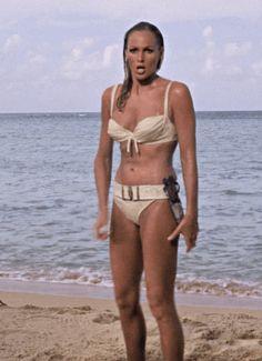 Ursula Andress' white belted bikini