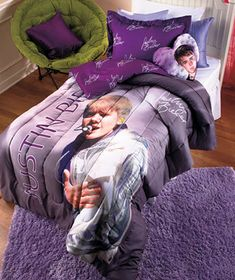 Justin Bieber Pillow or Comforter Set (Bwahahahaha!)