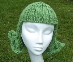 Fun and Funky Hat Wig Chemo Cap.  A knitting pattern with photo tutorial.  on Etsy, $ 5.07: