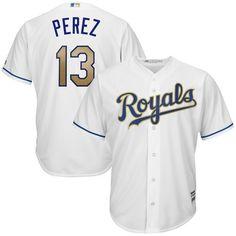 fd2d5b674 Salvador Perez Kansas City Royals Majestic 2017 Home Cool Base Replica  Jersey - White
