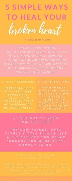 6 Simple Ways To Heal Your Broken Heart | Advice, Relationships ...