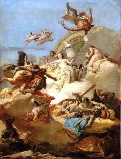 Apotheosis of Aeneas by Giovanni Battista Tiepolo c. 1762. Museum of Fine Arts, Boston