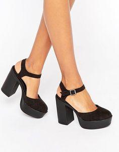 New Look | Zapatos de tacón con plataforma gruesa de New Look
