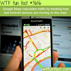 How google maps calculate the speed of traffic -  WTF fun facts