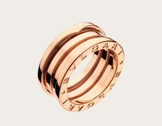 b.zero1 3-band 18k rose gold ring
