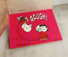 Where can you buy VINTAGE HALLMARK PEANUTS LUCY and CHARLIE BROWN POSTCARD 12 PACK? Here and theyre pretty COOL! Ya get 12 hot pink n red striped cards with the iconic image of Charlie Brown yelling AAUGH!!! as Lucy pulls the football away and he goes flying into the air. Amazing how he always falls for it! 😁🤣He falls for it every time! ViNTAGE HaLLMARK PeaNUTS 🏈LUCY n CHARLIE BROWN PoSTCARD 12 PaCK. #ipeanutsfootball https://www.etsy.com/listing/507819341 … $32.00.