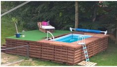 .. pool and deck.
