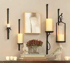 Artisanal Wall-Mount Candle Holders #potterybarn