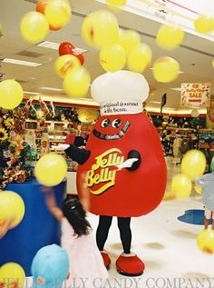 Mr. Jelly Belly is celebrating National Jelly Bean Day in the Visitor Center. He's so happy there's a day specially made just for him!