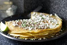 charred corn crepe stack, mexican street corn style by smitten, via Flickr