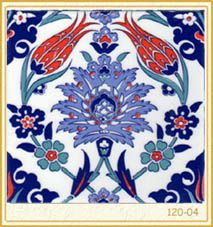 Shop Red White and Blue Oriental Floral Ceramic Tile created by Personalize it with photos & text or purchase as is!