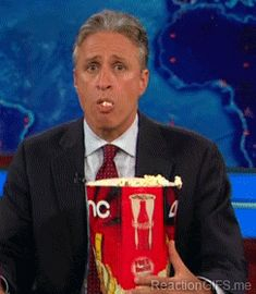 """One of the saddest things about Jon Stewart leaving """"The Daily Show"""" is the loss of perfect reaction GIFs. has assembled a collection of the essential Jon Stewart GIFs to help you deal. Jon Stewart, Great Memes, Out Of Touch, The Daily Show, Pretty Cool, Hunger Games, New Trends, Animated Gif, Make Me Smile"""