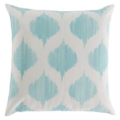 The Ogee Pillow is made by experts by merging form with function at Surya and is translated as the most relevant apparel and home decor trends into fashion-forward products across a range of styles and price points.   100% Cotton Color: Ivory, Mint *Available with polyester insert or down insert