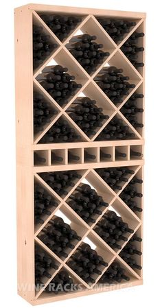 Handmade Wooden 170 Bottle Solid Cube Full Height Combo Wine Rack Kit in Ponderosa Pine. 13 Stain Combinations to Choose From! Handmade Wooden 170 Bottle Solid Cube Full Height Combo Wine Rack Kit in Ponderosa Pine. 13 Stain Co